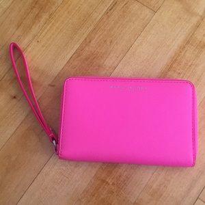 Marc Jacobs Hot Pink Zip Phone Wallet - Wristlet